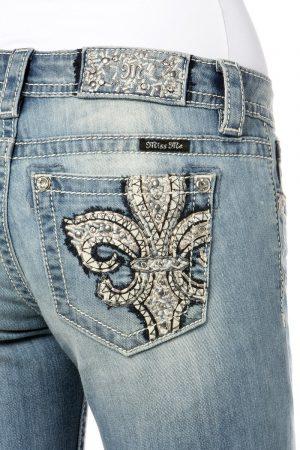Miss Me Jeans *Fleur de Lis* – Skinny