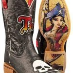 Tin Haul Boots  *Crossglow *Skull* Black – YOUTH Stiefel