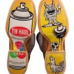 Tin Haul Boots  Tagged with *Funky *Doodle* Graffiti