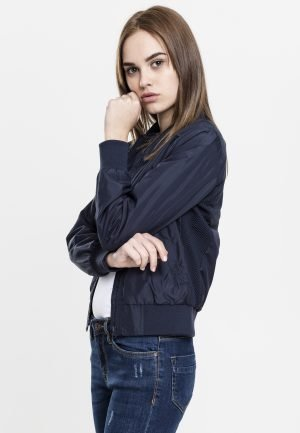 Ladies Light Bomber Jacket Navy