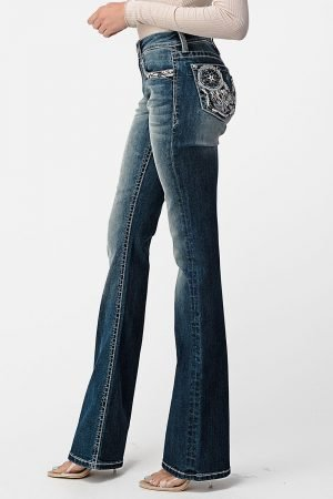 Grace In LA Feathered Dreamcatcher BootCut