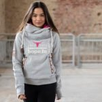 Lope In Ladies Pull Over Hoodie – grey