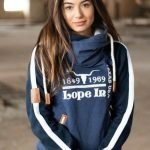 Lope In Ladies Pull Over Hoodie – navy