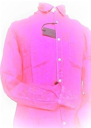 Leinenhemd Herren – Hot Pink